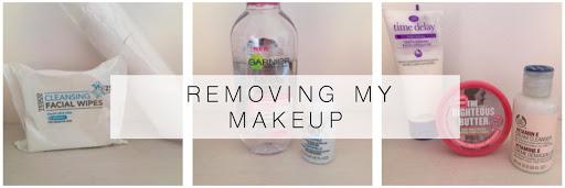 Removing my make up
