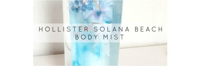Holister body mist