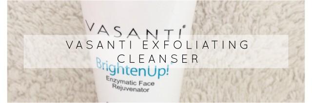 Vasanti exfoliating cleanser